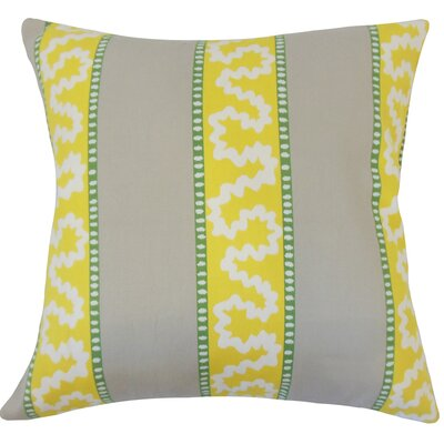 Sherrer Striped Down Filled 100% Cotton Lumbar Pillow