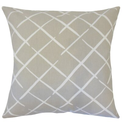 Kistner Geometric Down Filled 100% Cotton Throw Pillow Size: 22 x 22, Color: Oyster
