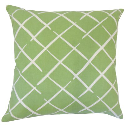 Kistner Geometric Down Filled 100% Cotton Throw Pillow Size: 18 x 18, Color: Palm