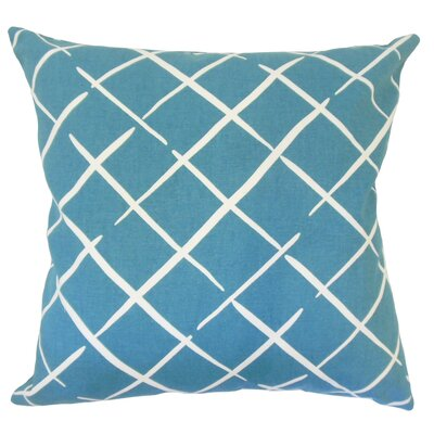 Kistner Geometric Down Filled 100% Cotton Lumbar Pillow Color: Pool