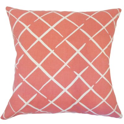 Kistner Geometric Down Filled 100% Cotton Throw Pillow Size: 18 x 18, Color: Rhubarb