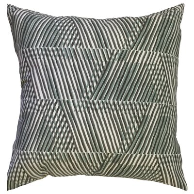 Hartshorn Geometric Floor Pillow Color: Dew