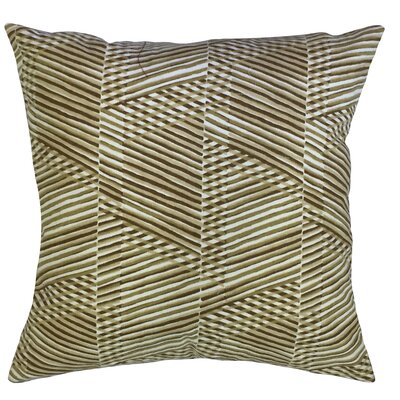 Shepler Geometric Down Filled 100% Cotton Throw Pillow Size: 22 x 22, Color: Goldleaf