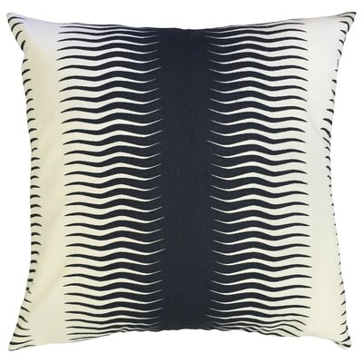Dru Geometric Floor Pillow Color: Midnight