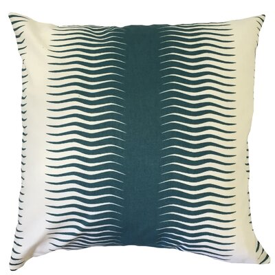 Dru Geometric Floor Pillow Color: Peacock