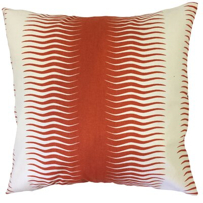 Dru Geometric Floor Pillow Color: Persimmon