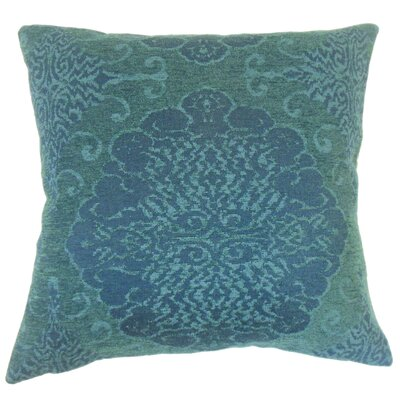 Calypso Damask Down Filled Lumbar Pillow Color: Azure