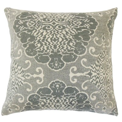 Lavoie Damask Floor Pillow Color: Graystone