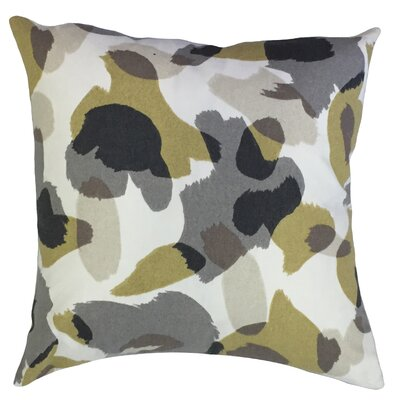 Leander Geometric Floor Pillow Color: Dew