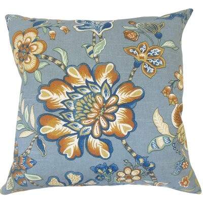 Calie Floral Down Filled 100% Cotton Throw Pillow Size: 22 x 22