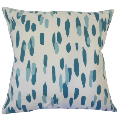 Wigfall Down Filled 100% Cotton Lumbar Pillow Color: Pool