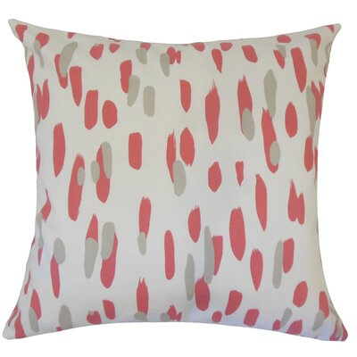 Wigfall Down Filled 100% Cotton Lumbar Pillow Color: Rhubarb
