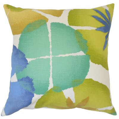 Frierson Floral Floor Pillow Color: Ultramarine