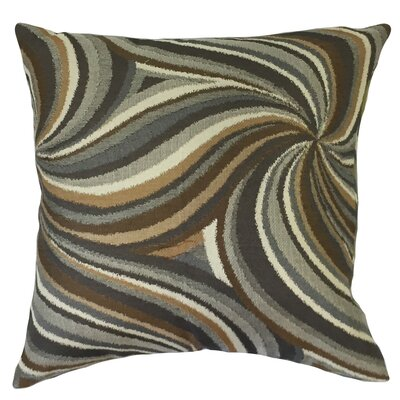Kittel Graphic Down Filled Velvet Throw Pillow Size: 24 x 24, Color: Amber