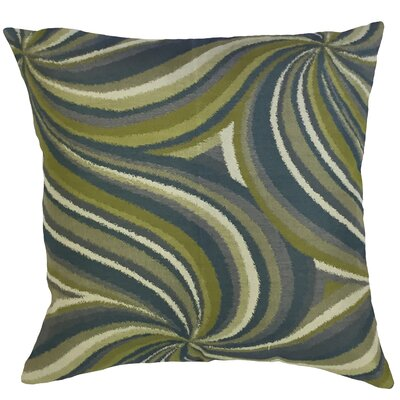 Kittel Graphic Down Filled Velvet Lumbar Pillow Color: Calypso