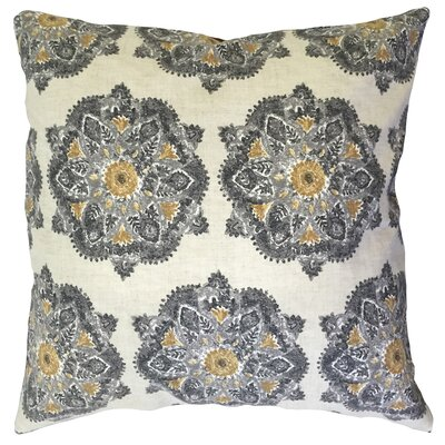 Dodson Damaask Floor Pillow Greystone