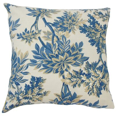 Haeli Floral Down Filled 100% Cotton Throw Pillow Size: 18 x 18, Color: Calypso