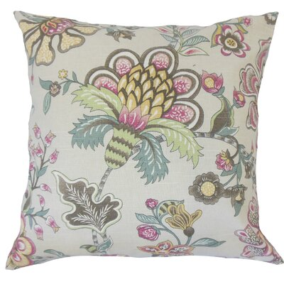 Cale Floral Down Filled 100% Cotton Throw Pillow Size: 20 x 20