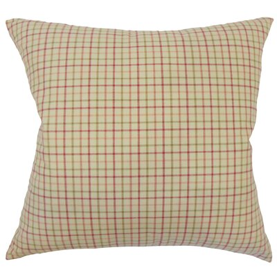 Farizon Plaid Down Filled 100% Cotton Lumbar Pillow