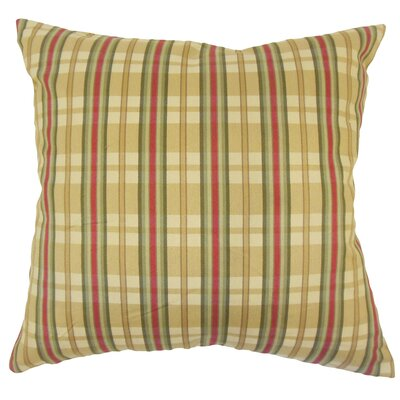 Jacobsen Traditional Plaid Down Filled 100% Cotton Throw Pillow Size: 18 x 18