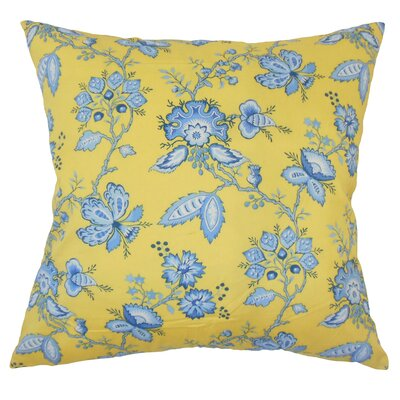 Goetz Floral Down Filled 100% Cotton Throw Pillow Size: 22 x 22