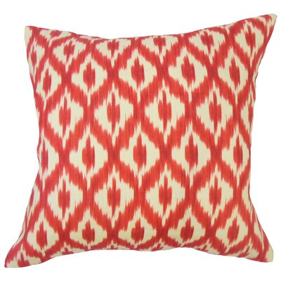 Honesti Ikat Down Filled 100% Cotton Throw Pillow Size: 18 x 18