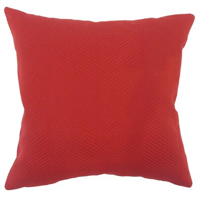 Alona Solid Down Filled 100% Cotton Throw Pillow Size: 18 x 18