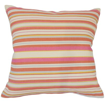 Calona Striped Down Filled 100% Cotton Lumbar Pillow