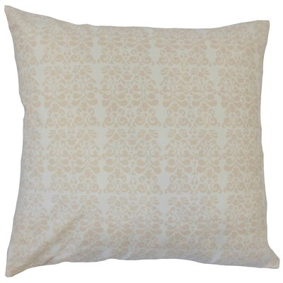 Cecilio Damask Down Filled 100% Cotton Throw Pillow Size: 18 x 18