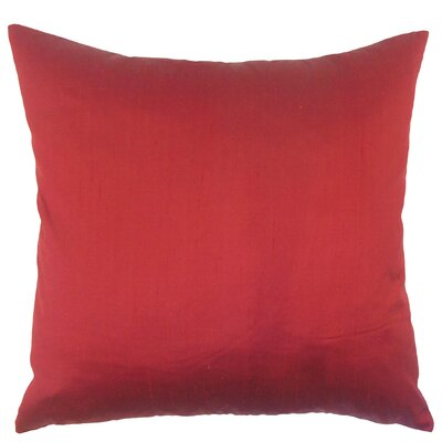 Misty Solid Down Filled Silk Throw Pillow Size: 22 x 22