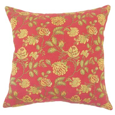 Carmena Floral Down Filled 100% Cotton Lumbar Pillow