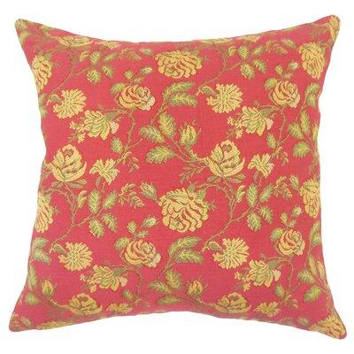 Carmena Floral Down Filled 100% Cotton Throw Pillow Size: 22 x 22