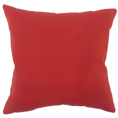 Sherrod Solid Down Filled Throw Pillow Size: 18 x 18