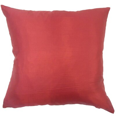 Douglaston Solid Red Floor Pillow
