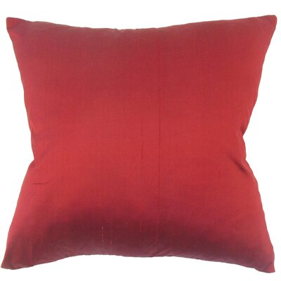 Downey Solid Red Floor Pillow