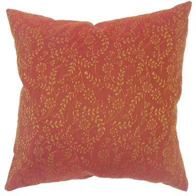 Ange Floral Red Floor Pillow