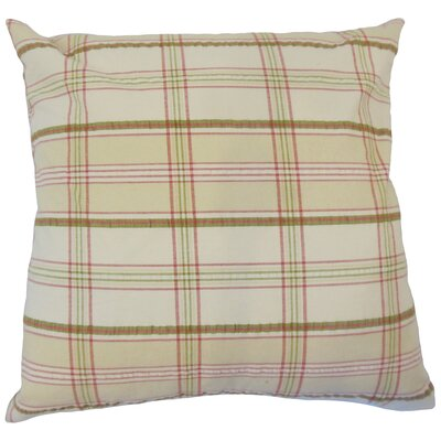 Jacobsen Modern Plaid Down Filled 100% Cotton Lumbar Pillow