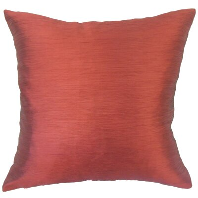 Rooney Solid Down Filled Throw Pillow Size: 18 x 18