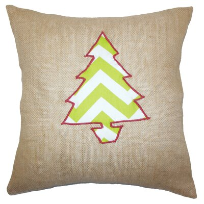 Teddington Christmas Tree Floor Pillow Color: Khaki