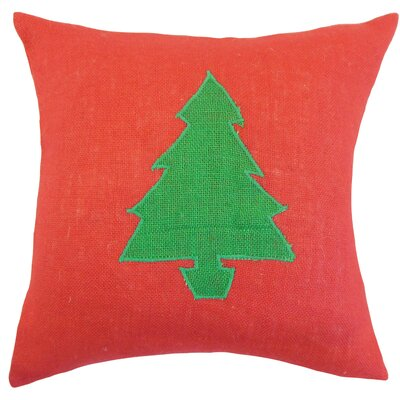 Teddington Christmas Tree Floor Pillow Color: Red