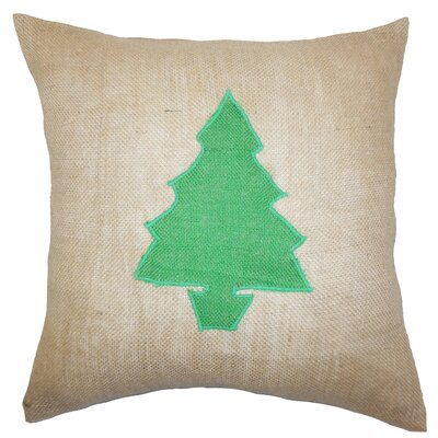 Teddington Christmas Tree Floor Pillow Color: Green