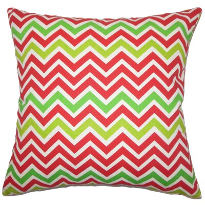 Sherron Zigzag Down Filled 100% Cotton Throw Pillow Size: 22 x 22