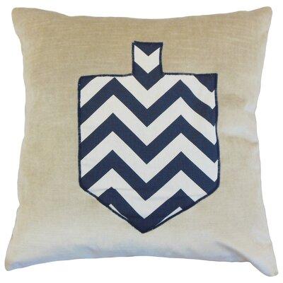 Jessica Holiday Floor Pillow Color: Chevron