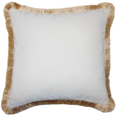 Poppy Holiday Floor Pillow Gold Fringe