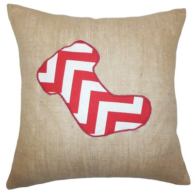 Teddington Christmas Stocking Floor Pillow Color: Red