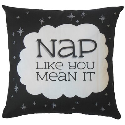Krohn Nap Like You Mean It Text Floor Pillow
