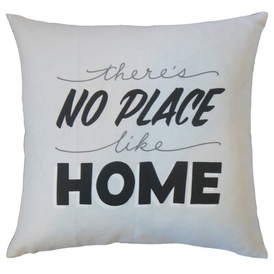 Dunnigan Theres No Place Like Home Text White Floor Pillow