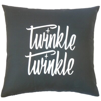 Witcher Twinkle Twinkle Text Cotton Throw Pillow