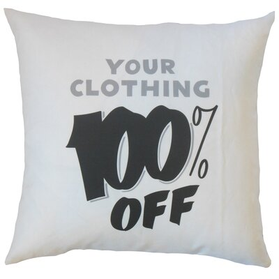 Hamner Your Clothing 100% Off Text Floor Pillow