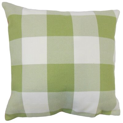 Ronzi Plaid Down Filled 100% Cotton Lumbar Pillow Color: Green